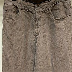 Tommy Bahama Trouser Pants Brown Pinstriped Slacks